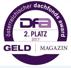 Österreichischer Dachfonds Award 2017 Platz 2